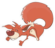Un fumetto dello scoiattolo Fotografia Stock Libera da Diritti