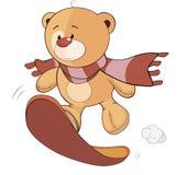 Un fumetto farcito del cucciolo di orso del giocattolo Immagini Stock Libere da Diritti