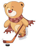 Un fumetto farcito del cucciolo di orso del giocattolo Fotografia Stock