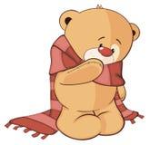Un fumetto farcito del cucciolo di orso del giocattolo Immagini Stock