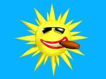 Un fumo di 007 Sun Fotografia Stock Libera da Diritti