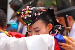 Un funcionamiento de la boda coreana tradicional Imagen de archivo libre de regalías