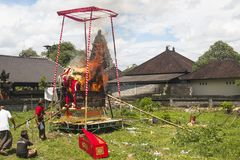 Un funerale in Bali, Indonesia immagini stock libere da diritti
