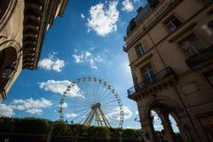 Un funfair del verano en los jardines de Tuileries, en el centro del par Foto de archivo