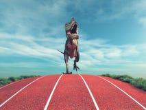 Un funzionamento del dinosauro Fotografia Stock