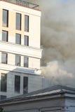 Un fuoco in un magazzino a 108 Frolovska Immagini Stock Libere da Diritti