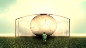 Un futbolista con la bola fotos de archivo