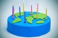 Gâteau international de jour de Terre Photographie stock libre de droits