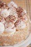Un gâteau délicieux avec de la crème photographie stock