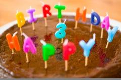 Un gâteau d'anniversaire fait maison Photo stock