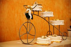 Un gâteau de mariage Photo libre de droits