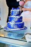 Un gâteau de mariage spécial Photos stock