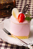 Un gâteau de mousse Photographie stock