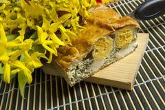 Un gâteau de Pasqualina photographie stock libre de droits