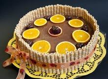 Gâteau orange de choco organique Images libres de droits
