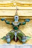 un géant Gardien de temple Une statue de gardien géant Image libre de droits