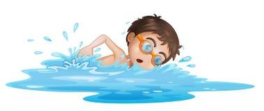 Un garçon avec les lunettes jaunes illustration libre de droits