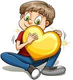 Un garçon avec un c?ur d'or Images stock