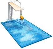 Un garçon dans une piscine illustration libre de droits