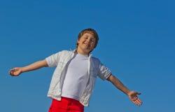 Un garçon heureux Images libres de droits