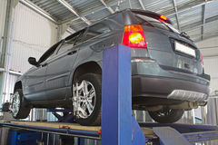 Un garage di riparazione dell'automobile Fotografia Stock Libera da Diritti