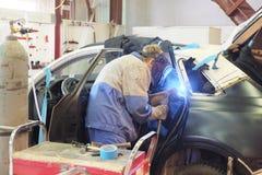 Un garaje de la reparación del coche Imagen de archivo