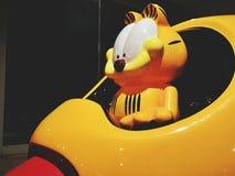 Un Garfield la statua del personaggio dei cartoni animati del gatto immagine stock