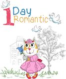 Un gato romántico del día Imagen de archivo