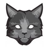 Un gatto grigio lanuginoso illustrazione di stock