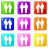 Un gay di due uomini ha messo 9 Fotografia Stock Libera da Diritti