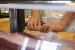 Un genere di piatto giapponese come sushi fotografie stock libere da diritti