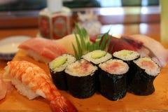 Un genere di piatto giapponese come sushi fotografie stock