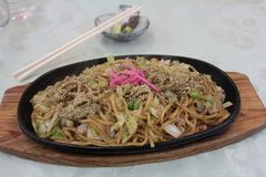 Un genere di piatto tailandese come pesce arrostito nel Giappone fotografie stock