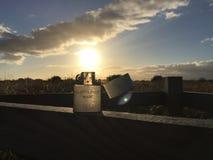 Un genre plus léger de coucher du soleil Image stock
