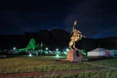 Un Ger mongol en un campo Fotos de archivo libres de regalías