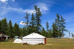 Un Gers traditionnel en Mongolie Image stock