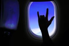 Un geste de l'amour à l'intérieur de la fenêtre Photographie stock libre de droits