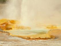Un geyser scoppia, parco nazionale di Yellowstone Fotografie Stock