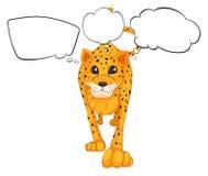 Un ghepardo con i callouts vuoti Immagine Stock Libera da Diritti