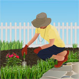 Un giardiniere Fotografia Stock