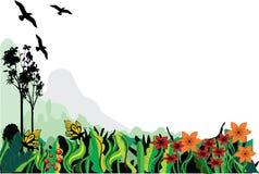 Un giardino pacifico illustrazione di stock