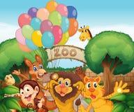 Un giardino zoologico e gli animali Fotografia Stock
