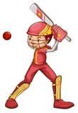 Un giocatore del cricket Fotografie Stock Libere da Diritti