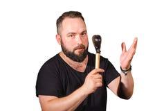 Un giocatore di percussione Fotografia Stock Libera da Diritti