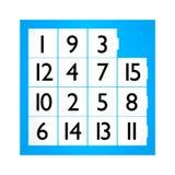 Un gioco di quindici puzzle Immagine Stock Libera da Diritti