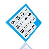 Un gioco di quindici puzzle Immagine Stock
