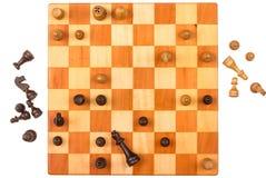 Un gioco di scacchi Fotografia Stock Libera da Diritti