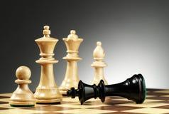 Un gioco di scacchi termina Immagine Stock Libera da Diritti