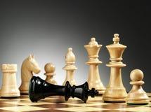 Un gioco di scacchi termina Fotografia Stock
