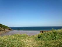 Un giorno alla spiaggia in Galles Immagine Stock Libera da Diritti